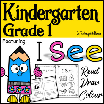 """First Reading """"I See"""" Stories Read, Draw and Colour/Color"""