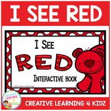 Colors I See Red Interactive Book Animals