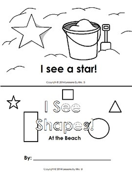 I See Shapes-At The Beach (Early Reader Activity)