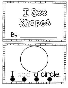 I See Shapes Emergent Reader