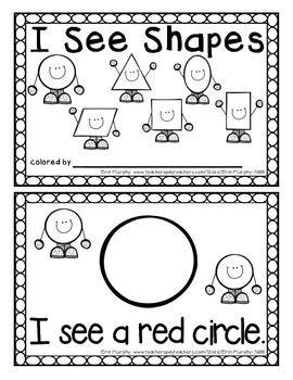 I See Shapes Easy Reader for SIMPLE Shapes