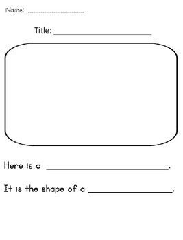 I See Shapes Emergent Level C guided reading book!!! Integrates Shapes/Math!