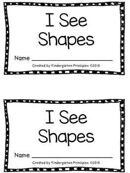 I See Shapes: Emergent Reader (Common Core Aligned)