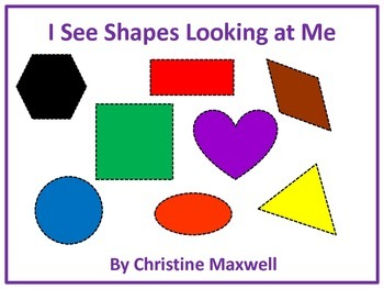 I See Shapes Looking At Me Story + 2D Shapes and Color Words