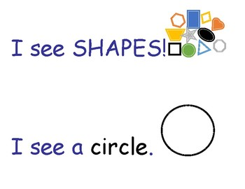 I See Shapes Sentence Stem with Pictures