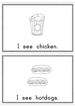 I See Snack Food  Easy Reader Patterned Sentences for Beginning Readers