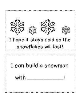 I See Snowflakes Emergent Reader