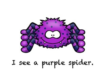 I See Spider colors : Shared Reading Book
