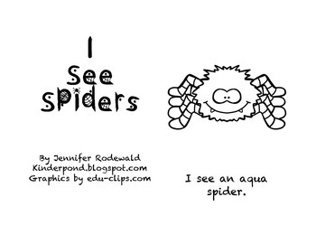 I See Spider colors: Student Reading Book (grey)