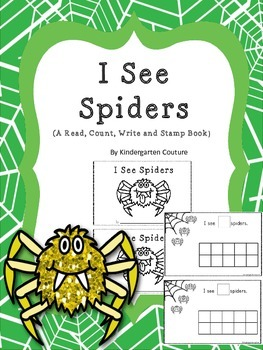 I See Spiders - A Count and Stamp Book