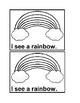 I See Spring Emergent Reader Book in black&white for Preschool & Kindergarten