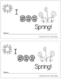 I See Spring Interactive Sight Word Book