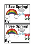 I See Spring in color Emergent Reader Book for Preschool & Special Education