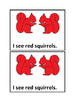 I See Squirrels Colors in Color Emergent Reader Book Preschool & Kindergarten