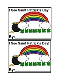I See St. Patrick's Day Emergent Reader Book in color for Preschool