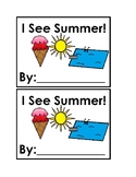 I See Summer Emergent Reader in color for preschool or kindergarten