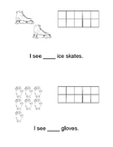 I See Ten Frames Worksheet Winter Themed