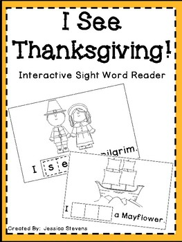 I See Thanksgiving Interactive Sight Word Reader