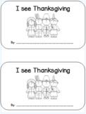I See Thanksgiving; an emergent reader