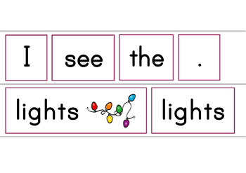 I See The Christmas Tree Patterned Sentence Reader for Beginning Readers