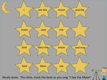 """I See The Moon- a PowerPoint for Music Memory and reinforcing """"do"""""""