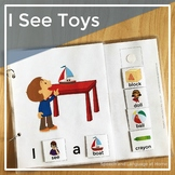 AAC Core Vocabulary Words Interactive Book: I See Toys
