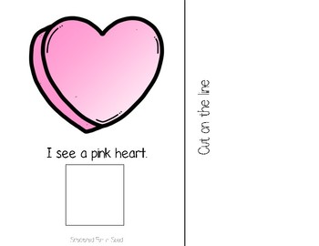 I See...Valentine Items Adapted Book