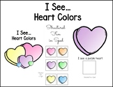 Valentine Colors Adapted Book for Preschool, Pre-K and Special Needs