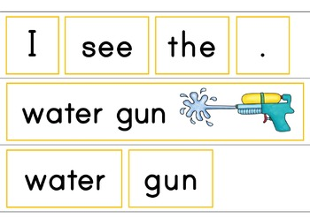 I See Water Fun Summer Easy Reader Patterned Sentences for Beginners