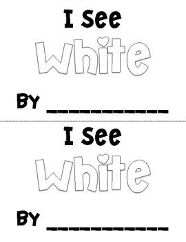 I See White Emergent Reader