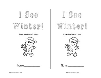 I See Winter Emergent Reader- 4 versions!