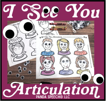 I See You Articulation: A Googly Eyes Speech Therapy Companion