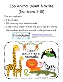 I See Zoo Animals Counting Center