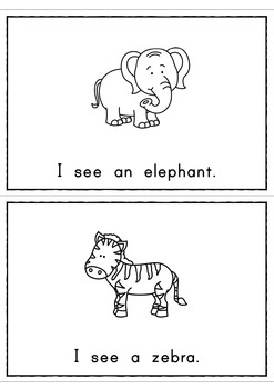 I See Zoo Animals Easy Reader Patterned Sentences For Beginning Readers