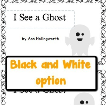 Halloween Guided Reading Book, Level B/2: I See a Ghost