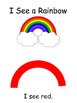 I See a Rainbow - Interactive Book and Printable Mini-book