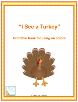 I See a Turkey- Colors Printable Book