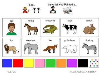 I See the Artist who Painted - Eric Carle Inspired I See & Read Board