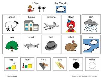 I See the Cloud - Eric Carle Inspired I See & Read Board