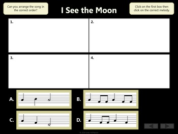 I See the Moon: Orff, Rhythm, Melody, Form, Improvisation and Instruments