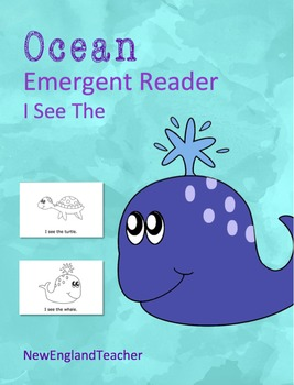 I See the Ocean Printable Emergent Reader Book for Young Readers