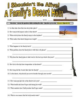I Shouldn't Be Alive : A Family's Desert Hell (video worksheet)
