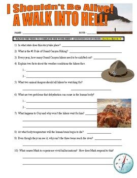 I Shouldn't Be Alive : A Walk into Hell (video worksheet)