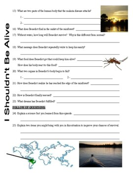 I Shouldn't Be Alive : Alone in the Amazon (video worksheet)