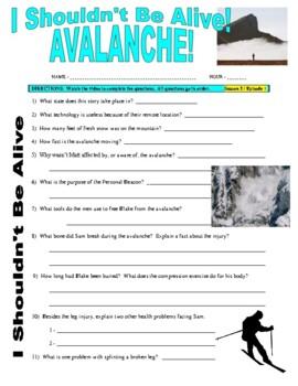 I Shouldn't Be Alive : Avalanche! (video worksheet)