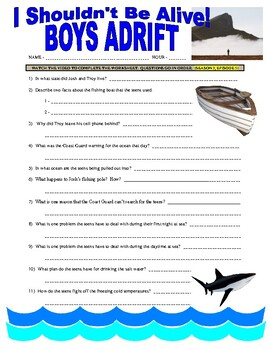 I Shouldn't Be Alive : Boys Adrift (video worksheet)
