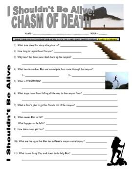 I Shouldn't Be Alive : Chasm of Death (video worksheet)