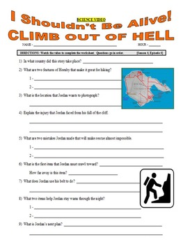 I Shouldn't Be Alive : Climb Out of Hell (video worksheet)