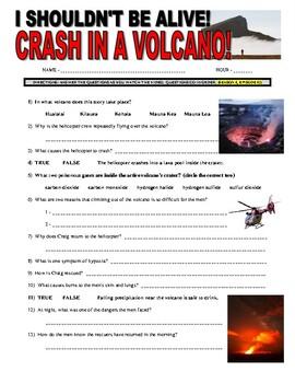 I Shouldn't Be Alive : Crash in a Volcano (video worksheet)