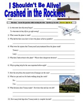 I Shouldn't Be Alive : Crashed in the Rockies (video worksheet)